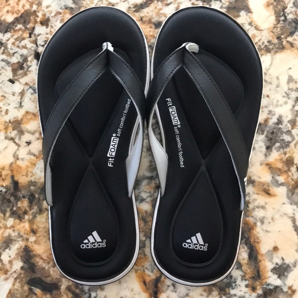 a8672df38 adidas Shoes - NWOT Adidas Fit Foam Flip Flops Sandals.Size 7.🌸